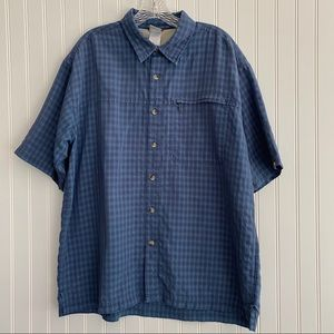 The North Face men's blue plaid shirt SIZE XL
